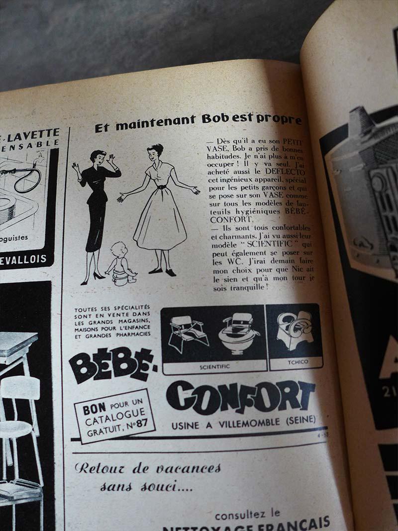 Ancienne publicité pour la marque Bébé confort
