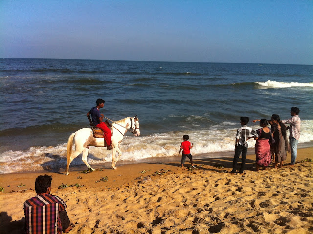 visitors enjoying at Marina Beach