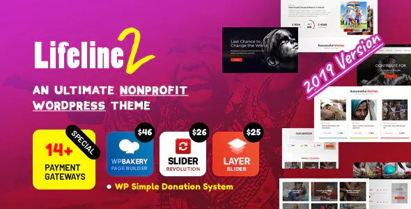 premium subject on ThemeForest helps you lot to practice whatever donation or charity based organizati Lifeline ii v3.4.7 – An Ultimate Nonprofit WordPress Theme