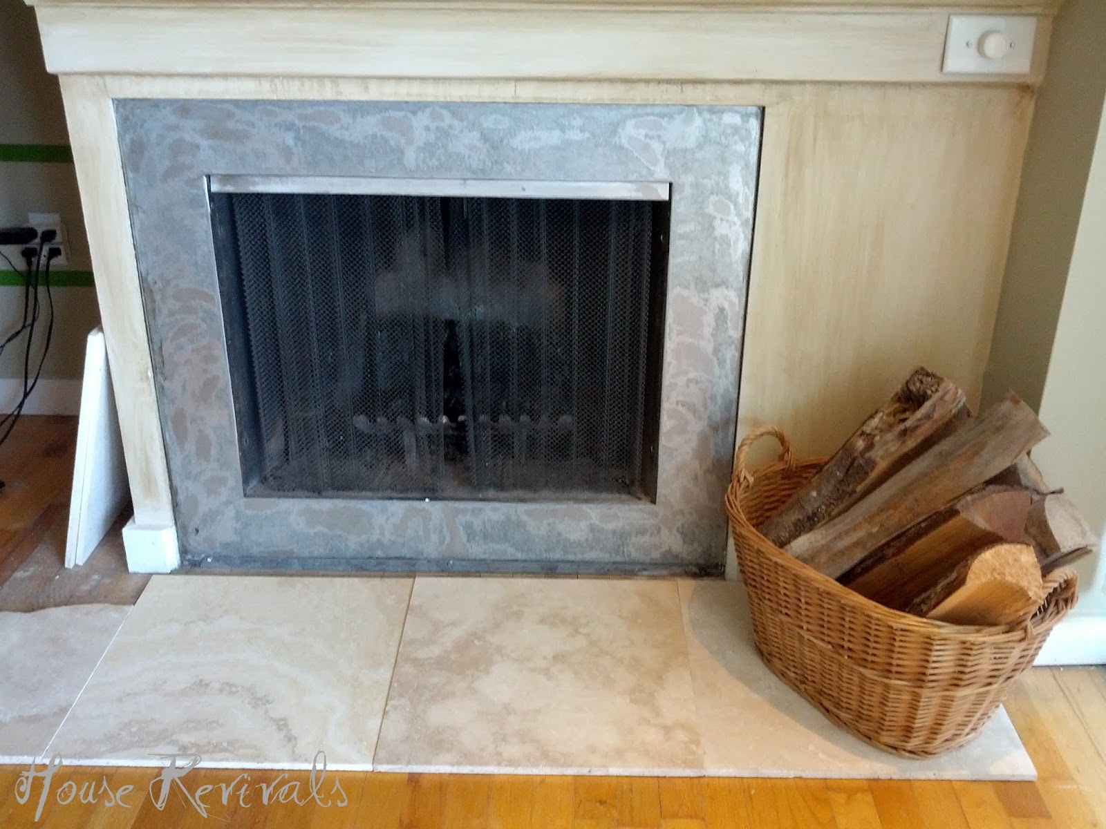 We used huge rectangular pieces of travertine in our ...