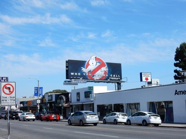 Ghostbusters logo teaser billboard