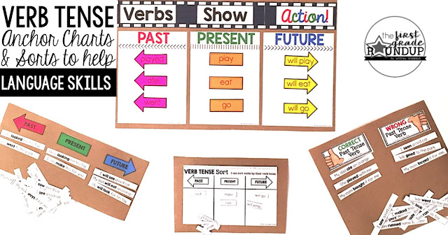 Verb Tense Sorts - Firstgraderoundup