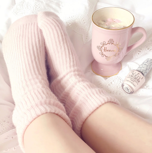 Love, Catherine | The White Company Pink Cashmere Socks