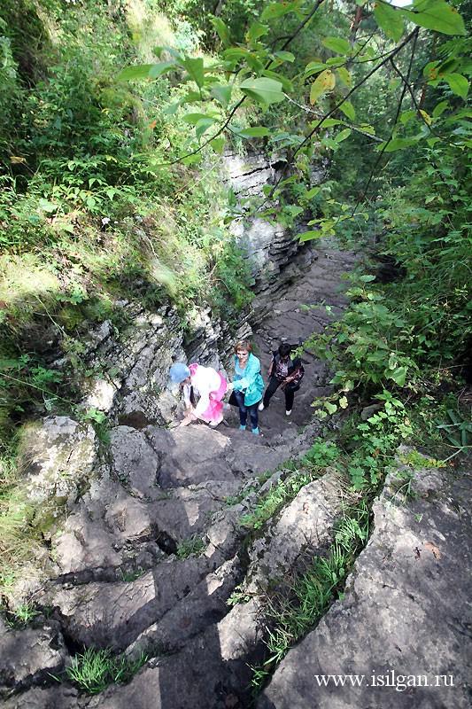 Алексеевский лог (Сухие водопады). Река Ай. Челябинская область