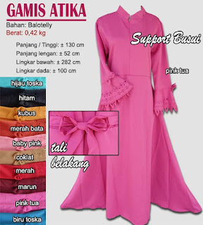 Gamis balotelly model tangan cutting - atika