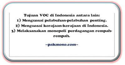 tujuan voc datang ke indonesia