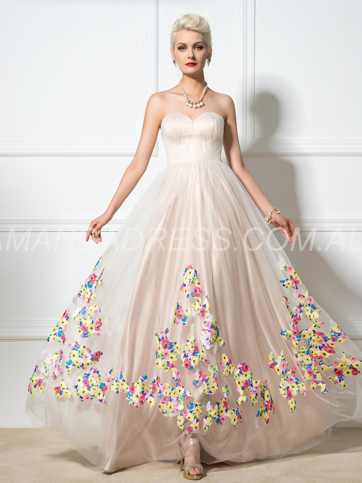 Glamorous & Dramatic Pink Prom Natural A-line Spring Summer Sweetheart Dress