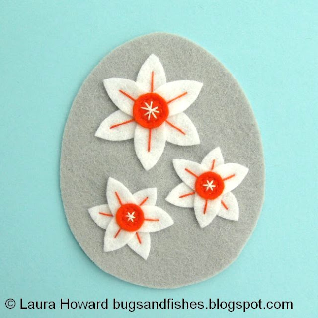 embroidered narcissi