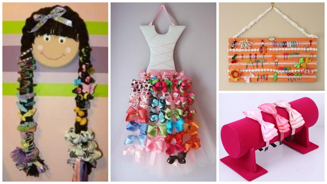11 maneras de c mo hacer organizadores de accesorios para - Material para hacer diademas ...