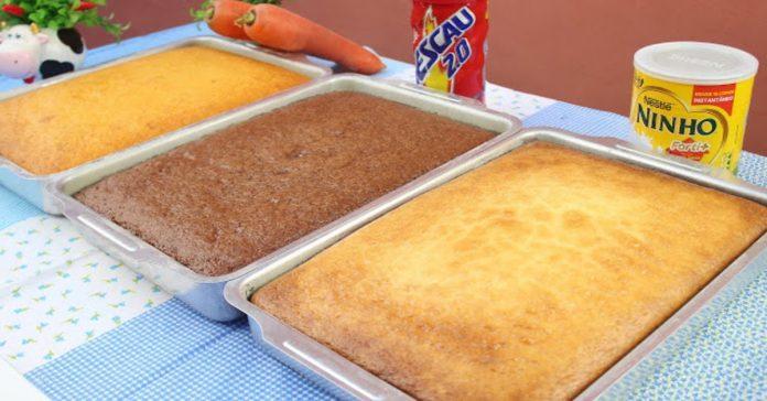 3-receitas-de-bolos-mais-procuradas-da-internet-bolo-de-cenoura-bolo-de-chocolate-bolo-de-leite-ninho