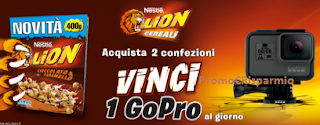 Logo Concorso Cereali Lion : vinci 1 GoPro al giorno