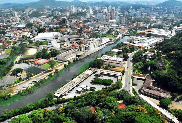 Imagem érea de Joinville - SC