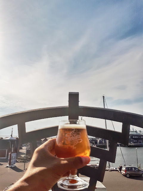 a beer at Laeso island in Denmark