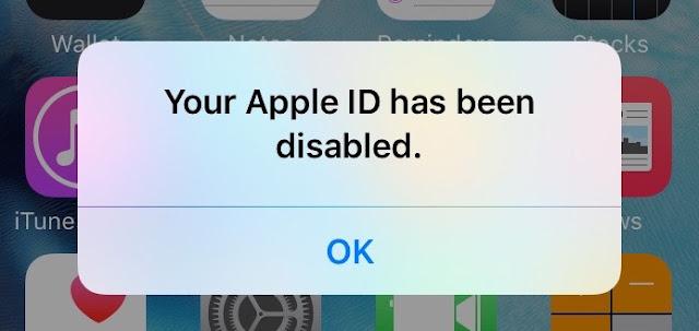 Cara Mengatasi Your Apple ID Has Been Disabled di Iphone