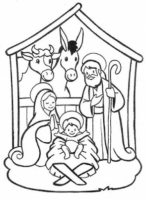 Dibujo Del Pesebre De Jesús Para Colorear Dibujos Infantiles