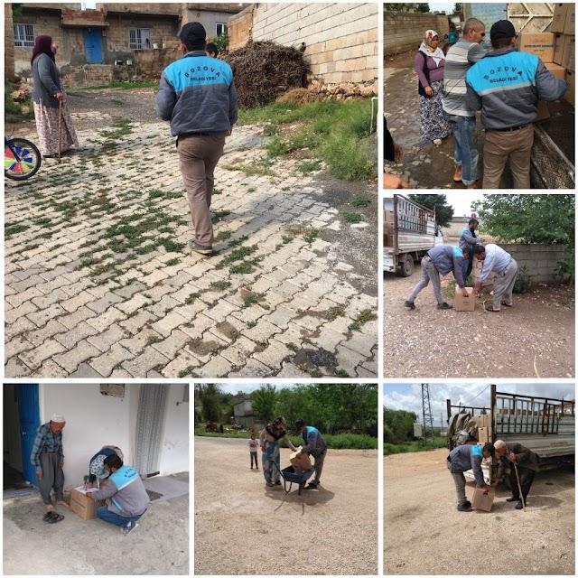 Bozova Belediyesinden gıda yardımı