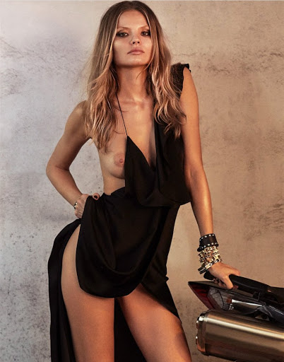 Hot model Magdalena Frackowiak zoo magazine topless photoshoot