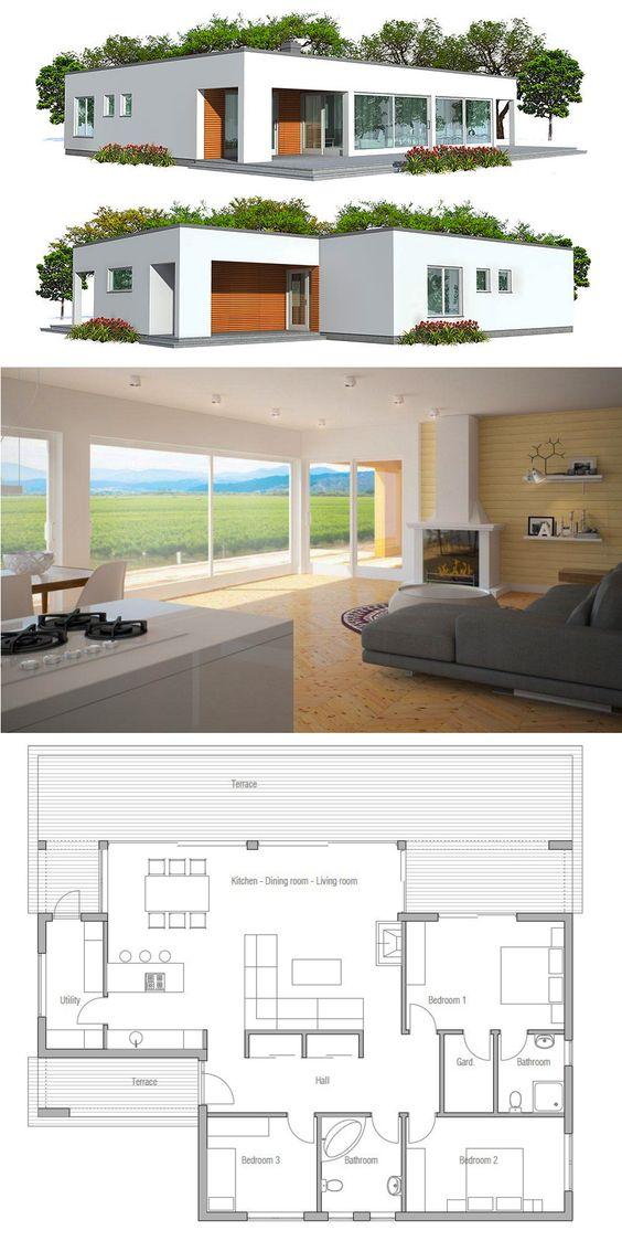 Planos de casas modernas para construir parte 1 - Planos de casas para construir ...
