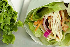 Paleo 'Croque Monsieur' Lettuce Wrap