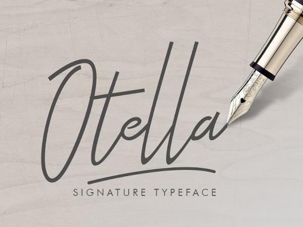 Download Otella Signature Font Free