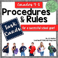 Procedures and Rules Task Cards