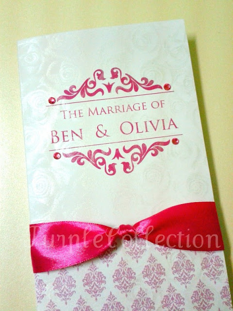 Pink Damask Wedding Invitation Card, Pink damask wedding, wedding, wedding invitation card, pink ribbon card