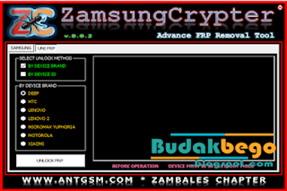 Zamsung Crypter Advance FRP Tool New Version