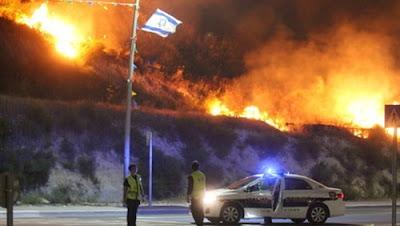 اندلاع الحرائق في إسرائيل بسبب ارتفاع درجات الحرارة