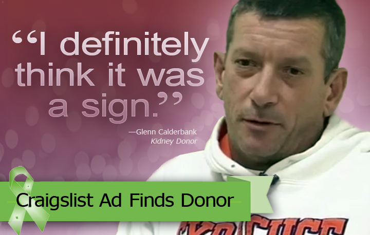 Craigslist ad finds Kidney donor