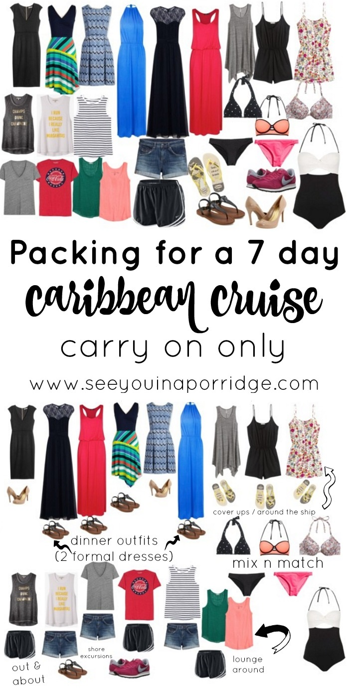 Over Packing For A 7 Day Caribbean Cruise Using Just A