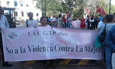 CGTP junto a Organizaciones de Mujeres y de la Sociedad Civil Conmemoran el Día Internacional de la Mujer.