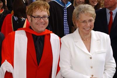 elton john and mum
