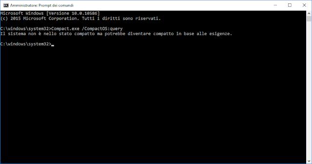 Windows 10, Compact /CompactOS:query