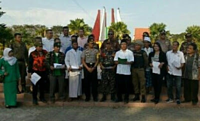 Polisi-TNI, Tokoh Agama dan Ormas Kota Mojokerto Deklarasi Tolak Terorisme