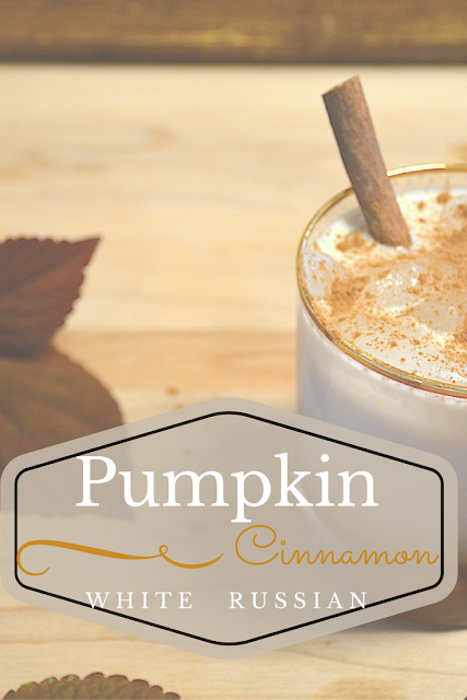 Looking for the perfect autumn cocktail? This twist on a tasty classic combines pumpkin spice, cinnamon + delicious fall flavors with the creaminess of a white russian. Pin now, make later!