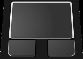 mouse pad 2 jari