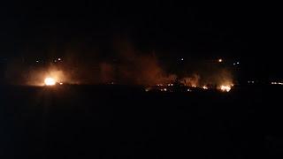 Incêndio atinge sítios próximos a zona urbana de Nova Floresta