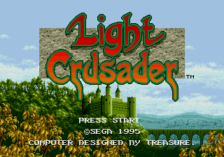 Light Crusader title screen