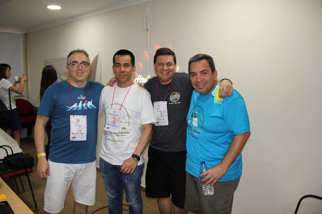 AgilesCo2018 -  Jorge Abad, Alex Canizales, Pablo Mejia y Lucho Salazar