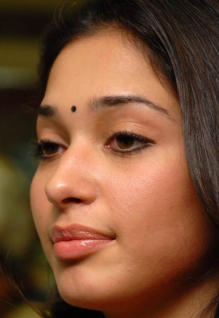 Beautiful Telugu Girl Tamannaah Oily Face Close Up Photos