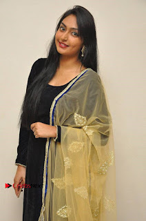 Actress Grace Myrtle Pos in Black Anarkali Dress at Beep Short Film Press Meet  0005.jpg