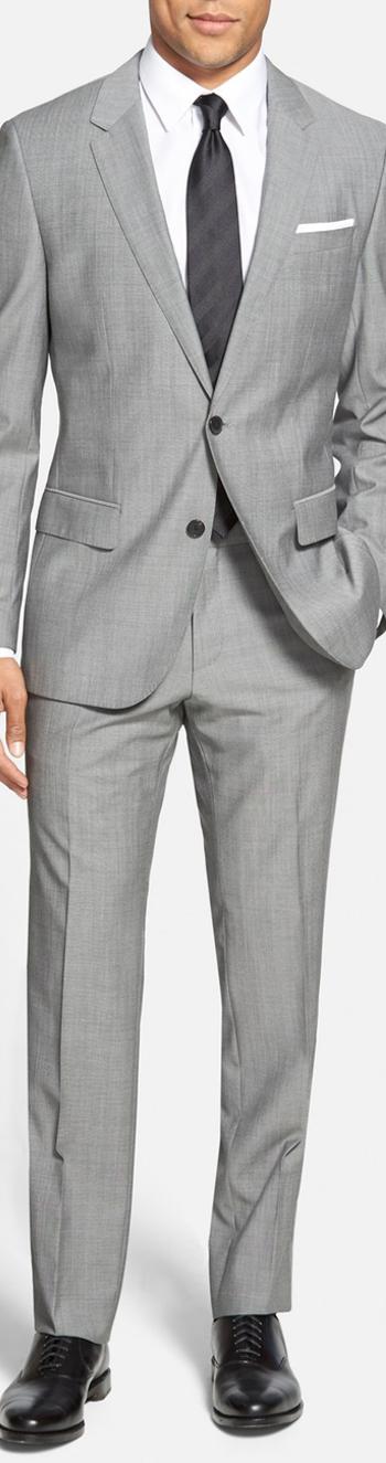 BOSS 'Huge/Genius' Trim Fit Wool Suit
