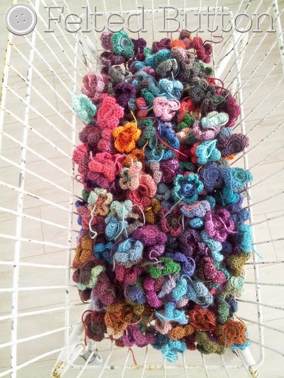 Monet's Garden Throw crochet pattern by Susan Carlson of Felted Button