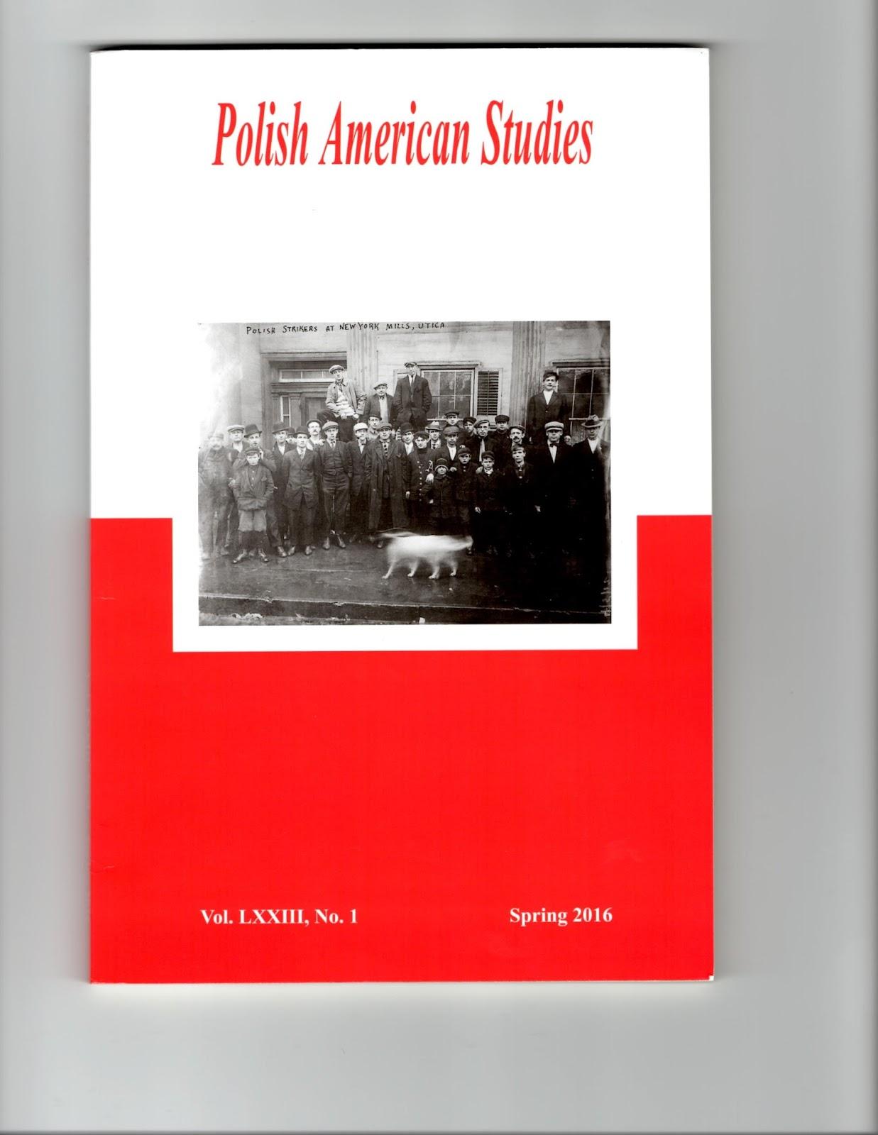 Polish American Studies Vol 73, No 2 (fall 2016):