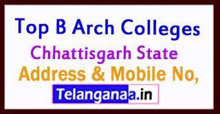 Top B Arch Colleges in Chhattisgarh