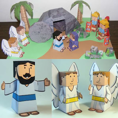Easy Papercraft Easter Story Diorama