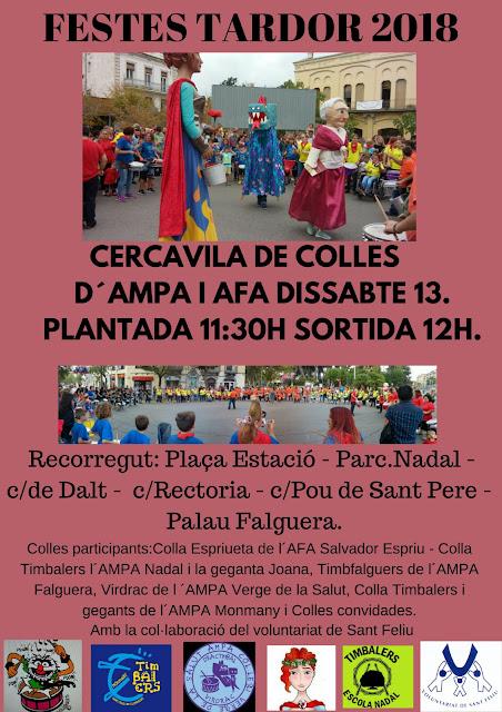 Imatge del cartell de la Cercavila de colles d'AMPA i AFA