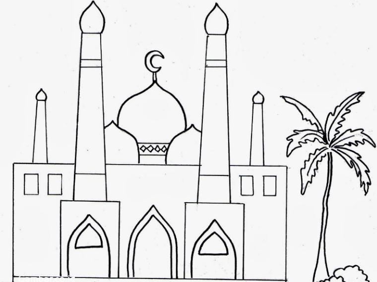 Contoh Gambar Masjid Anak Sd Nusagates