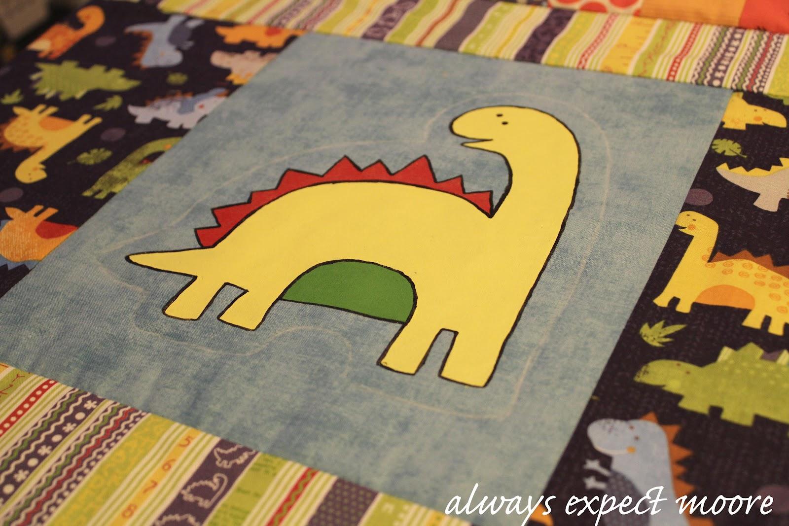 Scrappy Dinosaur Baby Quilt
