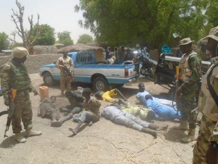 0 Photos: Troops capture 9 Boko Haram terrorists who hid in fox holes, rescue 400 hostages